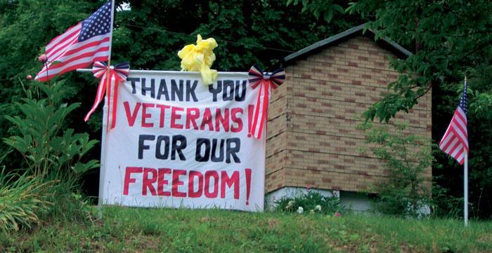West Virginia Veteran Support Sign